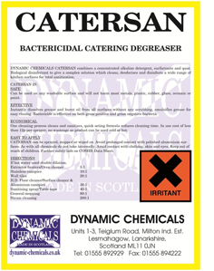 Image of Dynamic Chemicals Professional Kitchen degreaser labelCatersan